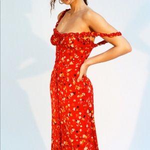 Realisation Par Juliet Rouge Fleur dress